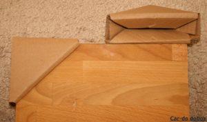 Karton sarokvédő bútor és képkeret csomagoláshoz